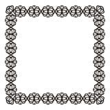 Ορθογώνιο διακοσμητικό πλαίσιο διανυσματική απεικόνιση