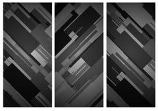 Ορθογώνιο κάθετο υπόβαθρο εμβλημάτων Στοκ Εικόνες