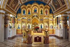 Ορθόδοξη Εκκλησία από το εσωτερικό Στοκ Εικόνες