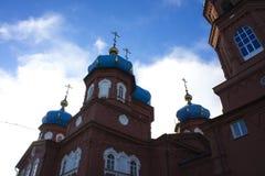 Ορθόδοξη Εκκλησία του αρχιτεκτονικού μνημείου μεσολάβησης του 19ου αιώνα στοκ εικόνες με δικαίωμα ελεύθερης χρήσης