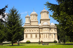 Ορθόδοξος καθεδρικός ναός υπόθεσης, Curtea de Arges, Wallachia, Ρωμαίος Στοκ εικόνα με δικαίωμα ελεύθερης χρήσης