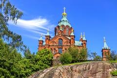 Ορθόδοξος καθεδρικός ναός Uspenski Hilsinki Φινλανδία στοκ φωτογραφία