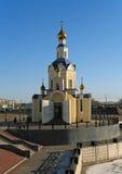 ορθόδοξος ρωσικός ναός Στοκ Εικόνα