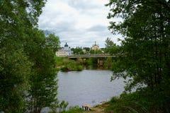 Ορθόδοξο, αγροτικό, χριστιανικό μοναστήρι Στοκ εικόνα με δικαίωμα ελεύθερης χρήσης