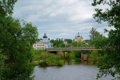 Ορθόδοξο, αγροτικό, χριστιανικό μοναστήρι Στοκ Εικόνα