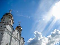 Ορθόδοξο μοναστήρι στην περιοχή της Μόσχας της κεντρικής Ρωσίας στοκ φωτογραφίες