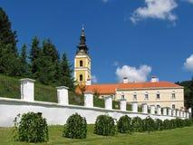 Ορθόδοξο μοναστήρι Grgeteg από το 1717 στο βουνό βόρεια Σερβία Fruska Gora Στοκ Φωτογραφία