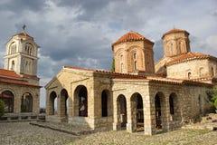 Ορθόδοξη Εκκλησία Αγίου Naum, λίμνη Οχρίδα, Μακεδονία Στοκ Εικόνες