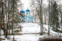 Ορθόδοξη Εκκλησία μεταμόρφωσης Χριστού σε Cesis Στοκ φωτογραφίες με δικαίωμα ελεύθερης χρήσης