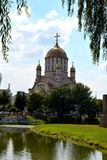 Ορθόδοξη Εκκλησία στην πόλη Fagagas Στοκ Εικόνες