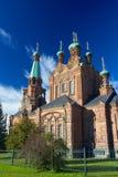 Ορθόδοξη Εκκλησία της Τάμπερε με το μπλε ουρανό Στοκ φωτογραφία με δικαίωμα ελεύθερης χρήσης