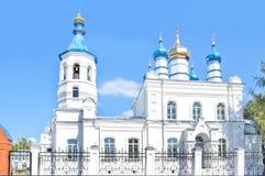Ορθόδοξη Εκκλησία του ST Peter και του ST Paul σε Salair, η περιοχή Kemerovo, της Ρωσίας Η εκκλησία χτίστηκε το 1907 Στοκ εικόνες με δικαίωμα ελεύθερης χρήσης