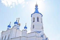 Ορθόδοξη Εκκλησία του ST Peter και του ST Paul σε Salair, η περιοχή Kemerovo, της Ρωσίας Η εκκλησία χτίστηκε το 1907 Στοκ φωτογραφία με δικαίωμα ελεύθερης χρήσης
