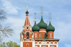 Ορθόδοξη χριστιανική εκκλησία του αρχαγγέλου Michael Ρωσία yaroslavl Στοκ Εικόνα