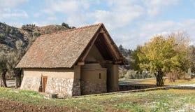 Ορθόδοξη χριστιανική μικρή εκκλησία στο χωριό Galata σε Cypr Στοκ Εικόνες