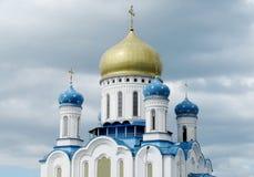 Ορθόδοξος καθεδρικός ναός του ιερού σταυρού σε Uzhorod στοκ εικόνα