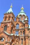 Ορθόδοξος καθεδρικός ναός Uspenski, στο Ελσίνκι, Φινλανδία. Στοκ φωτογραφία με δικαίωμα ελεύθερης χρήσης