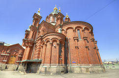 Ορθόδοξος καθεδρικός ναός Uspenski, στο Ελσίνκι, Φινλανδία. Στοκ εικόνες με δικαίωμα ελεύθερης χρήσης