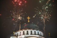 Ορθόδοξος νέος εορτασμός παραμονής ετών Στοκ Φωτογραφία