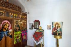 Ορθόδοξο chappel στο νησί Olympos Karpathos στοκ φωτογραφία με δικαίωμα ελεύθερης χρήσης