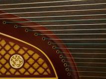 Οριζόντια άποψη ενός Guzheng Στοκ εικόνα με δικαίωμα ελεύθερης χρήσης