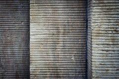 Οριζόντια αυλακωμένος συμπαγής τοίχος Στοκ Φωτογραφίες
