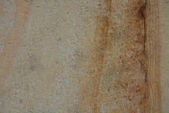 Οριζόντια γυαλισμένη φυσική φωτογραφία καφετί μπεζ Ocher αποθεμάτων υποβάθρου σύστασης επιφάνειας ψαμμίτη μαρμάρινη πέτρινη Στοκ Εικόνες