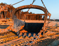 Οριζόντια ζωηρή άμμος που εξάγει τη βιομηχανική σέσουλα Στοκ Εικόνες
