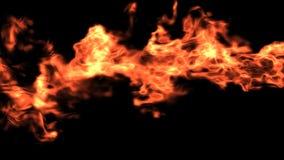 Οριζόντια πυρκαγιά με την άλφα μεταλλίνη διανυσματική απεικόνιση