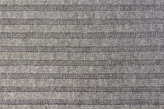 Οριζόντια ριγωτή γκρίζα σύσταση υφάσματος πλεξίματος, πλεκτό υπόβαθρο σχεδίων Στοκ φωτογραφίες με δικαίωμα ελεύθερης χρήσης
