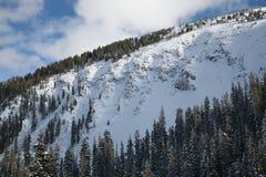 Οριζόντια χειμερινή θέα βουνού του Winter Park, Κολοράντο Στοκ εικόνες με δικαίωμα ελεύθερης χρήσης