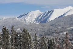 Οριζόντια χειμερινή θέα βουνού του Winter Park, Κολοράντο Στοκ εικόνα με δικαίωμα ελεύθερης χρήσης