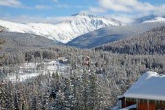 Οριζόντια χειμερινή θέα βουνού του Winter Park, Κολοράντο Στοκ Εικόνες