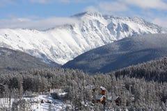 Οριζόντια χειμερινή θέα βουνού του Winter Park, Κολοράντο Στοκ φωτογραφία με δικαίωμα ελεύθερης χρήσης