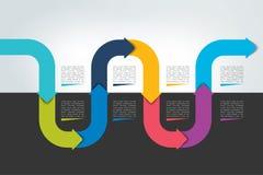 Οριζόντια infographic υπόδειξη ως προς το χρόνο κυμάτων Πρότυπο Ιστού για την παρουσίαση, φυλλάδιο, έκθεση Στοκ φωτογραφίες με δικαίωμα ελεύθερης χρήσης
