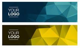 Οριζόντια polygonal εμβλήματα Στοκ εικόνα με δικαίωμα ελεύθερης χρήσης