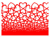 Οριζόντιος άνευ ραφής καρδιών Στοκ φωτογραφία με δικαίωμα ελεύθερης χρήσης