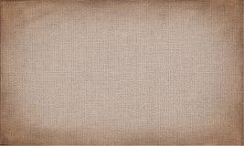 Οριζόντιος καφετής καμβάς που χρησιμοποιεί ως grunge υπόβαθρο ή σύσταση ελεύθερη απεικόνιση δικαιώματος