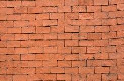 οριζόντιος κόκκινος καλυμμένος τοίχος σύστασης τούβλου ανασκόπησης Στοκ Εικόνες