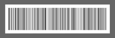 οριζόντιος μαύρος κώδικας φραγμών στην αυτοκόλλητη ετικέττα της Λευκής Βίβλου για το σχέδιο και στοκ φωτογραφία με δικαίωμα ελεύθερης χρήσης