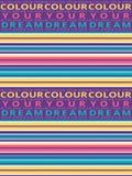 Οριζόντιο άνευ ραφής ριγωτό σχέδιο βουρτσών grunge Ζωηρόχρωμα λωρίδες με το χρώμα το υπόβαθρο κειμένων ονείρου σας seamless απεικόνιση αποθεμάτων