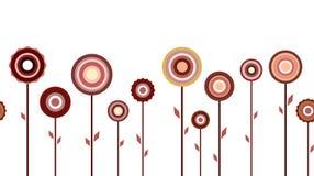 Οριζόντιο άνευ ραφής σχέδιο λουλουδιών Στοκ φωτογραφία με δικαίωμα ελεύθερης χρήσης