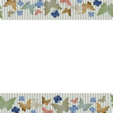 Οριζόντιο άνευ ραφής σχέδιο Watercolor με τις πεταλούδες στο άσπρο υπόβαθρο Στοκ Εικόνες