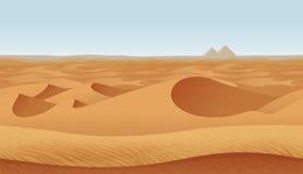Οριζόντιο άνευ ραφής υπόβαθρο με την έρημο διανυσματική απεικόνιση