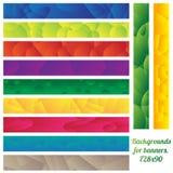 Οριζόντιο έμβλημα καθορισμένο 728x90 Στοκ εικόνες με δικαίωμα ελεύθερης χρήσης