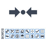Οριζόντιο επίπεδο εικονίδιο Glyph πίεσης με το επίδομα Στοκ εικόνες με δικαίωμα ελεύθερης χρήσης