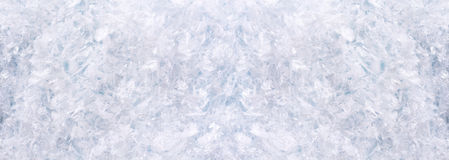 Οριζόντιο πανόραμα με το χιόνι Στοκ Φωτογραφίες