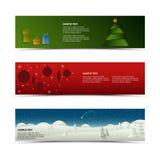 Οριζόντιο πρότυπο εμβλημάτων Χριστουγέννων Στοκ Φωτογραφίες