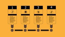 Οριζόντιο υπόβαθρο στοιχείων υπόδειξης ως προς το χρόνο infographic Στοκ εικόνα με δικαίωμα ελεύθερης χρήσης