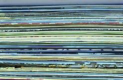Οριζόντιο υπόβαθρο των παλαιών βινυλίου καλύψεων στοκ εικόνες